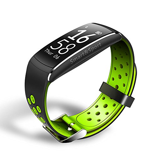 rt Watch Q8 wasserdichte Sport-Schlaf-Monitor-Pedometer-Armband für Android IOS (Guten Tag Dc Halloween)