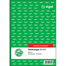 Sigel SD031 Invoices, A5, 2 x 40 Sheet, Non-copiable. 1 Copy, 1 Items Pack of 1
