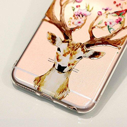 BENKER 3x iPhone 6 Plus / 6S Plus Hülle, Kreativ Anti-Kratz Nicht Verblassen 3D Relief Malerei TPU Silikon Telefon Fall - Paket 4 Paket 3