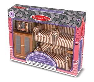 Melissa & Doug - Juego para sala de estar para casa de muñecas (12581)