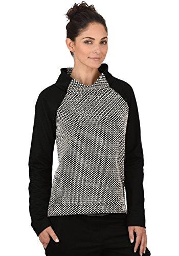 Trigema Sweat-shirt à col droit Noir