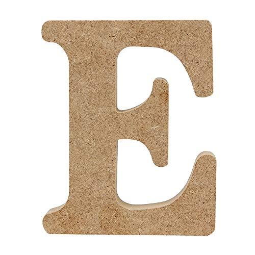 TDFGCR Holz aus Holz A - & - Z Buchstaben rot Alphabet Hochzeit Geburtstag Party Home Dekorationen—Beige E