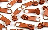 Schnoschi 5 Zipper Rostbraun Passend für endlos Reißverschluss mit 5 mm Laufschiene