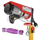 Partsam Polipasto eléctrico 125KG/250kg 550lbs 500W con control Para talleres taller de la tienda casera