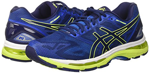Asics Gel-Nimbus 19, Men's Running Shoes, Blue (Indigo Blue/Safety Yellow/Electric Blue), 7 UK (41.5 EU)