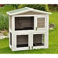 nanook clapier cage lapin en bois Flocon 2 étages - jolies couleurs - gris  blanc - a23268576da6
