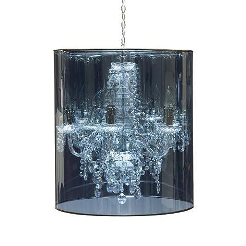 Muno Romeo chandelier/D 56 x H 70 cm/baroque/E14/40W/transparent with shade RO-5TST