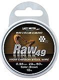 Savage Gear Raw 49 Stahlvorfach 7x7 10m, Vorfach für Hecht, Zander & Barsch, Vorfachschnur für Raubfischvorfächer, Stahl für Stahlvorfächer, Durchmesser/Tragkraft:0.54mm / 23kg Tragkraft