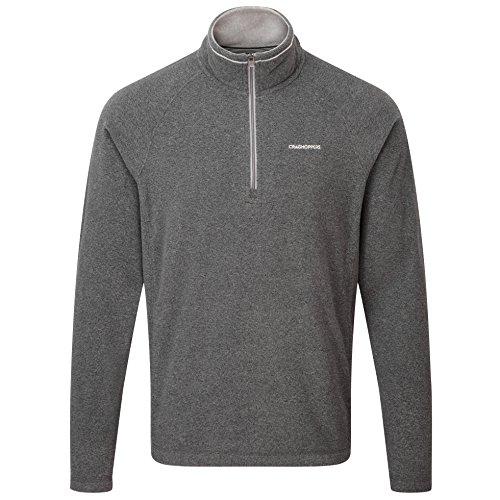 Craghoppers Herren Outdoor Reise Selby Half Zip Fleecepullover, Blkpepp Marl, XXL, CMA1183  1MN90 (Zip Half Golf Sweater)