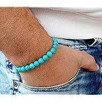 Herren Armband für Frauen 8MM Armband Naturstein Türkis Frauen Armband Chakra Energie türkis Meditation Toll... preisvergleich bei billige-tabletten.eu