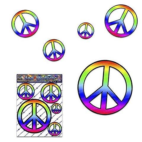 Friedenszeichen-Abziehbild Auto-Aufkleber-Satz für Auto-LKW-Wohnwagen - ST00022_SML - JAS Aufkleber