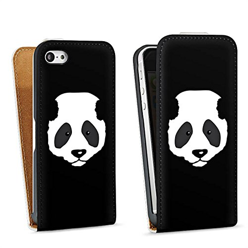 Apple iPhone 4 Housse Étui Silicone Coque Protection Panda Ours Ours Sac Downflip blanc