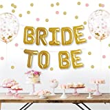 #8: Party Propz™ Bride to Be Banner Letters Balloons Pack / Engagement Party Decorations / Bachelorette Party Supplies / Miss to Mrs Banner Photo booth / Bachelorette Party Props / Bride To Be Party Decoration