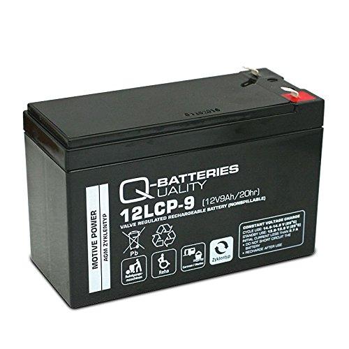 Longex Blei Gel Bleigel Akku Batterie 12V 9Ah 12LCP-9 Zyklentyp Deep Cycle AGM wie 7,2Ah