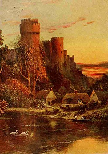 a4-photo-sherrin-daniel-1868-1940-in-unfamiliar-england-1910-warwick-castle-from-the-avon-print-post