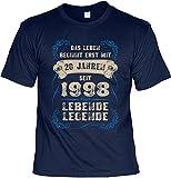 Cooles T-Shirt zum 20. Geburtstag T-Shirt 20 Jahren seit 1998 Lebende Legende Geschenk zum 20 Geburtstag 20 Jahre Geburtstagsgeschenk 20-jähriger