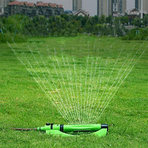 QINAIDI Automatische Rasenbewässerungs-Sprinkleranlage, Sprühbereich und winkelverstellbarer Garten-Sprinkler