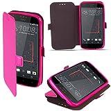 HTC Desire 825 Hülle Flip Case Rosa - Moozy® Dünne