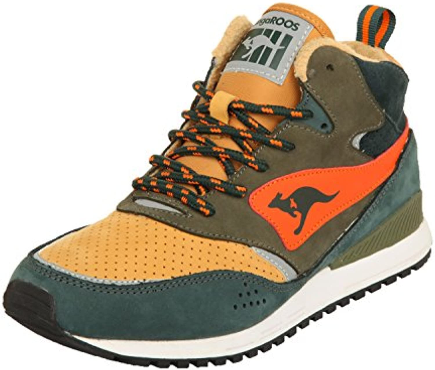 KangaROOS Herren Sneakers Frenzy Roos 003 DK Pineneedle/Orange 471560 872
