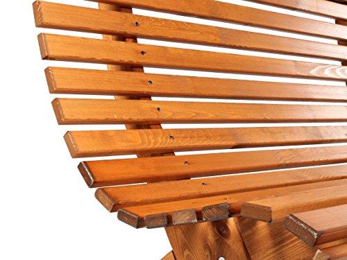 Ambientehome Bank, Massivholz 3er Parkbank Sorpesee Gartenbank 140 cm, braun, 140×72.5×87 cm, 90679 - 2
