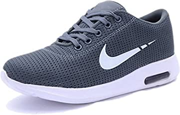 shoebox Men's Grey Mesh Sports Running/Walking/Training and Gym Shoes
