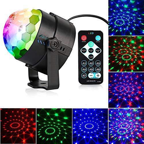 Yizhet LED Discokugel Partylicht Lichteffekte Discolicht Partybeleuchtung 7 Farbe RGB Partylicht mit Fernbedienung für Partei, Geburtstagsfeier, Bar, Karaoke, Halloween Weihnachten