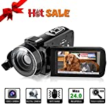 Video Camcorder-YUNDOO Camcorder Full HD 1080P 24MP, 3.0-Zoll-LCD-Bildschirm mit 270 Grad Drehbarem 16X-Digital Zoom Videokamera