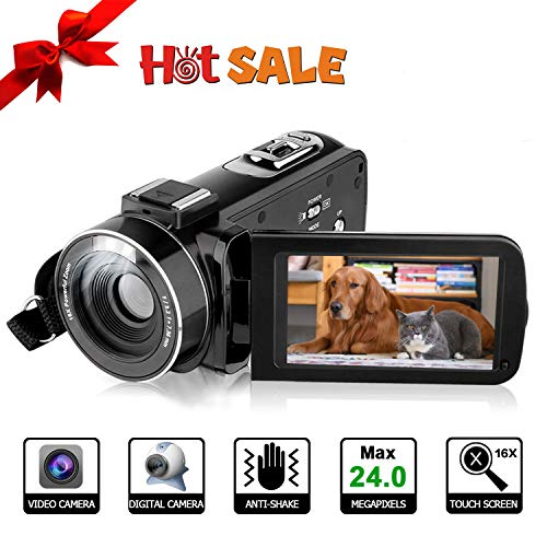 Camara de Video, Videocamara Full HD- YUNDOO Full HD 1080p 24.0MP Videocámara...