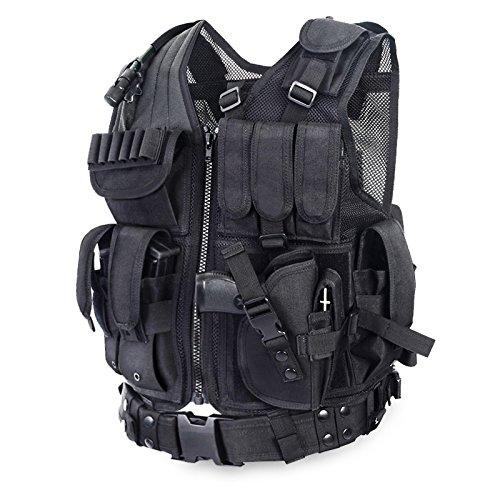 AR Tactical - Gilet tattico Molle USMC, Nero