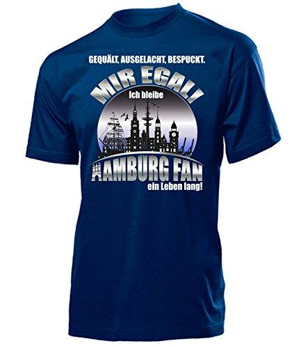 Hamburg Fan EIN Leben lang 5392 Fussball Artikel Heim Ultras Geburtstags Geschenk Idee Verein Trikot Spruch Männer Herren T Shirt Fan Shirt Trikot