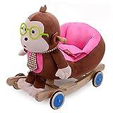 Baby Schaukelpferd Kinder Dual-Use 6-48 Monate Jungen Und Mädchen Kind Frühe Kindheit Cradle Cartoon Brille Affe Holz Schaukelpferd Schaukelstuhl Batch