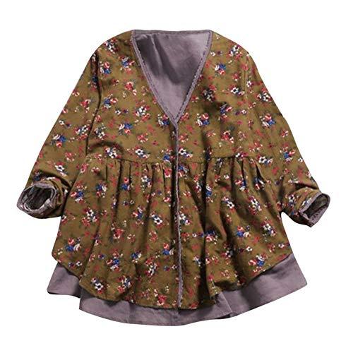 Briskorry Damen Cardigan Vintage Pullover Elegant Mantel Langarm Strickjacken Parka Irregular Strickmantel Cocktail Formal Kimono Lang Outwear Trenchcoat