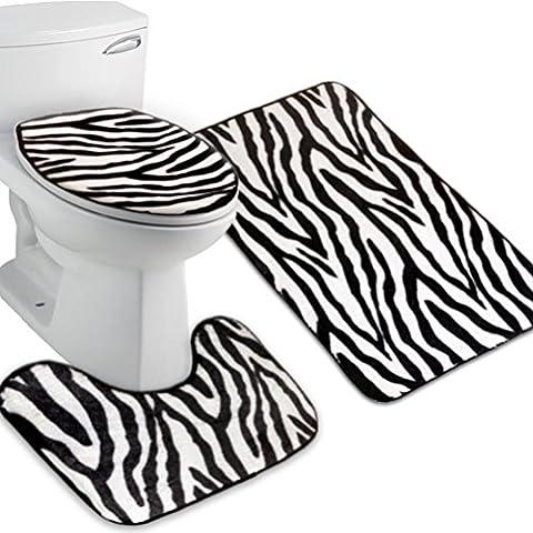 ZEBRE Lot de 3tapis de salle de bain Contour Tapis