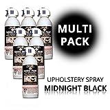SimplySpray - Upholstery Spray Midnight Black - Textilfarbe zum Sprühen - Farbe: Schwarz - Multipack 6 x 240ml - Wasserfest und Abriebfest