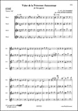 CLASSICAL SHEET MUSIC - Valse de la Princesse Amoureuse - C.&O. de CHAMISSO - Flute Quartet