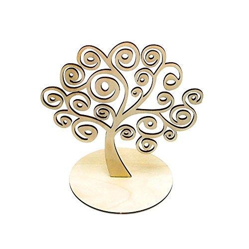 Espositore per orecchini a forma di albero in legno, legno, colore: a-s, cod. 201709061