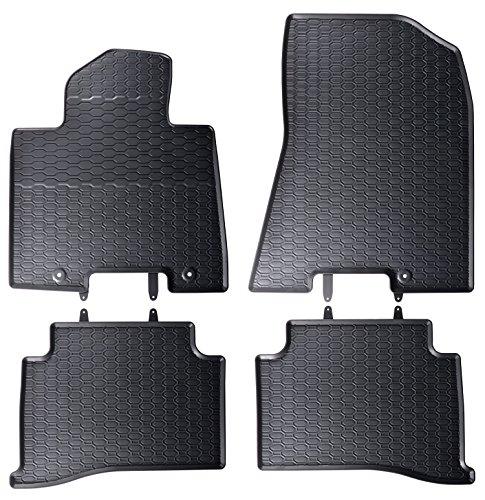 AME - Auto-Gummimatten in schwarz und Wabendesign, Geruch-vermindert und passgenau mit verbauten Befestigungen 868/4C