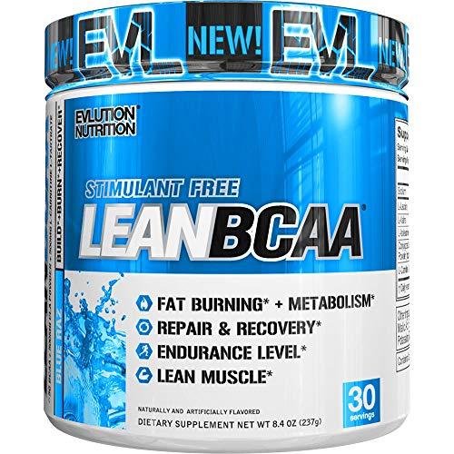51gskmZMm L. SS500  - Evlution Nutrition LeanBCAA, BCAA's, CLA and L-Carnitine, Stimulant-Free, Recover and Burn Fat, Sugar and Gluten Free…