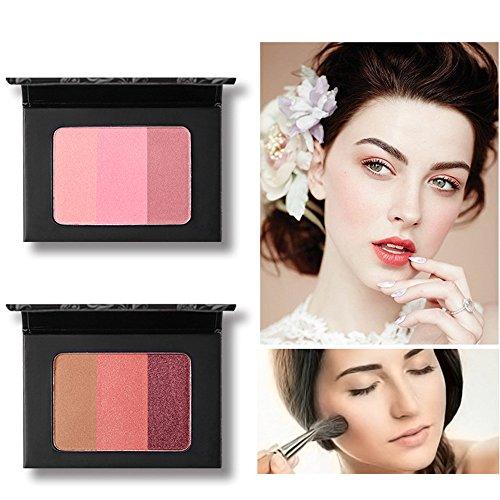Vovotrade Blush Ventes de nouveaux produits 3Couleurs Lisse Maquillage Contour Face Poudre Crème Palette 1PC Imperméable Durable Éclaircissant Invisible Pore Multicolore Nude Lumineux Blush