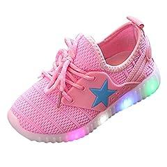 Idea Regalo - Beauty Top Scarpe Bambino LED con Luci Sneakers Bright Light Scarpe Stivali Lampeggiante bambini Ragazzi Ragazze (EU 29, Rosa)
