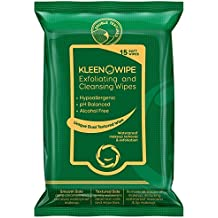 KLEENOWIPE Hypoallergenic Exfoliating & Ultra Cleansing Facial Wipes For Men & Women - 15 Pc Alcohol Free pH Balanced Soft Wipes