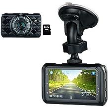 Z-Edge Autokamera 2K Super HD 1296P Dashcam(FHD 1080P bei 21:9) mit 3,0 Zoll LCD Display, 145° Weitwinkelobjektiv, WDR, Bewegungserkennung, G-Sensor, Ambarella A7 Chipsatz, inkl.16GB MicroSD Karte