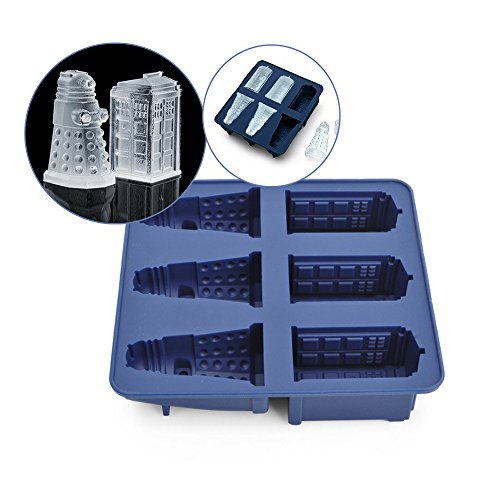 60c6fafd7c Sungpunet chaîne Offre Doctor Who Silicone Ice Cube Tray Tardis & Daleks  Creative Design