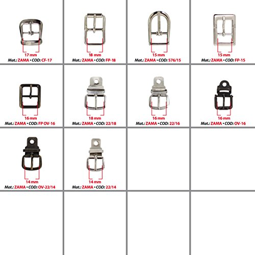 MG - Replacement metal buckles from 14 to 19 mm with pin