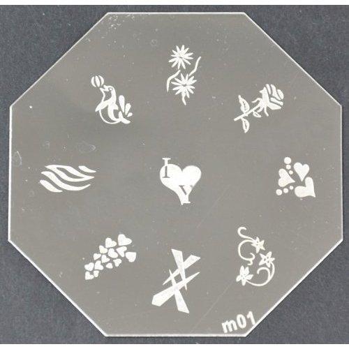 Nail Art emboutissage des tôles - M01 CODE : M01-plaque