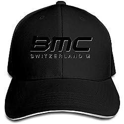 MYDT1BMC Racing Equipo al Aire Libre Sandwich Gorras de Visera Sombreros para Unisex - Negro -
