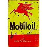 FlowerBeads Mobiloil Company Blechschilder, Billiges Metallplakat für Bar, Pub, Club, Tavern, Garage, Wanddekoration, Retro-Eisen, 20 x 30 cm