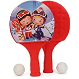 Ratna's Sporty Super Champ Table Tennis Set For Kids To Play The Sport Indoor And Outdoor.(prints May Vary) (red)