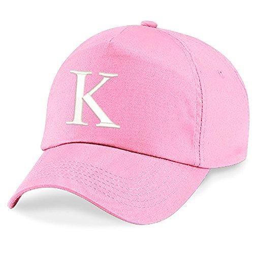 �tze Babymütze Jungen Mädchen Mütze Baseball Cap Rosa Hut Kinder Kappe Alphabet A-Z (K) ()