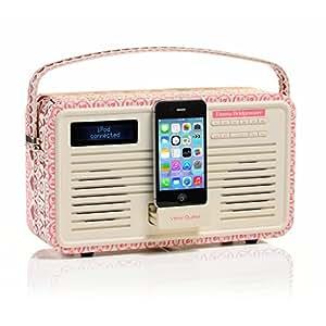 Viewquest Emma Bridgewater Radio portable rétro 30 prises Design Sampler Blanc